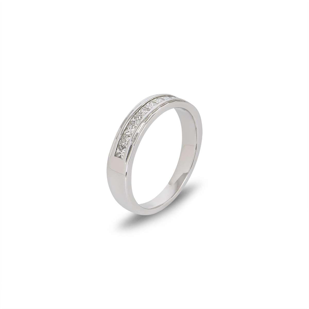18WG Diamond Half Eternity Ring 0.75TDW
